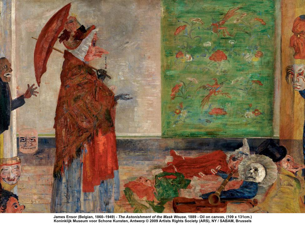 ensor the astonishment of the mask wouse